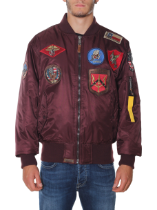 Giubbotto Top Gun Bomber in Nylon Patch 51668