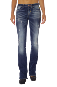 Jeans Meltin Pot Blanco Ripped  con Elastene