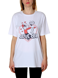 T.Shirt Roy Roger's Over Olivia Cuore Made in Italy